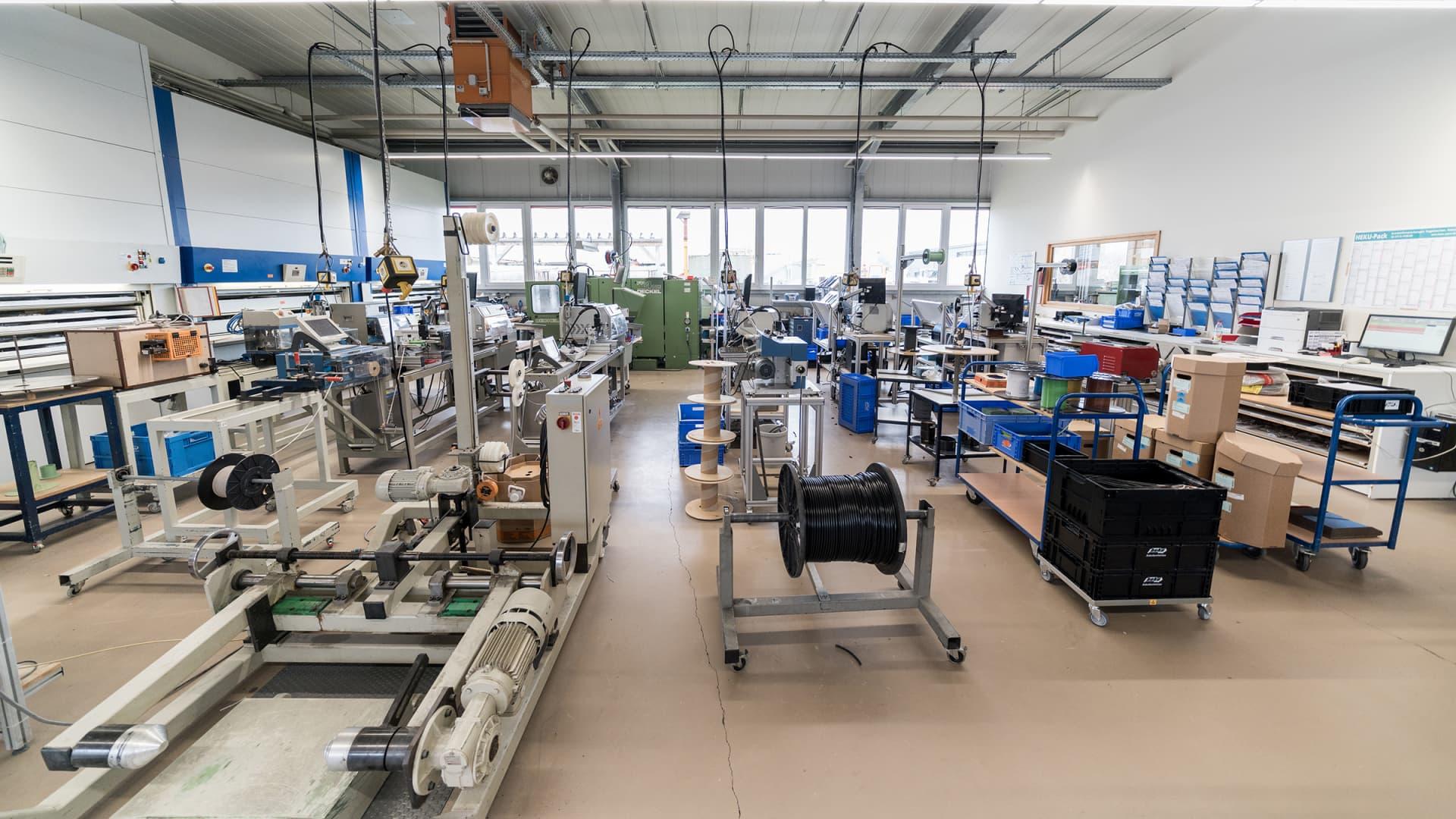 Maschinenpark - Alexander Bürkle Cable Solutions