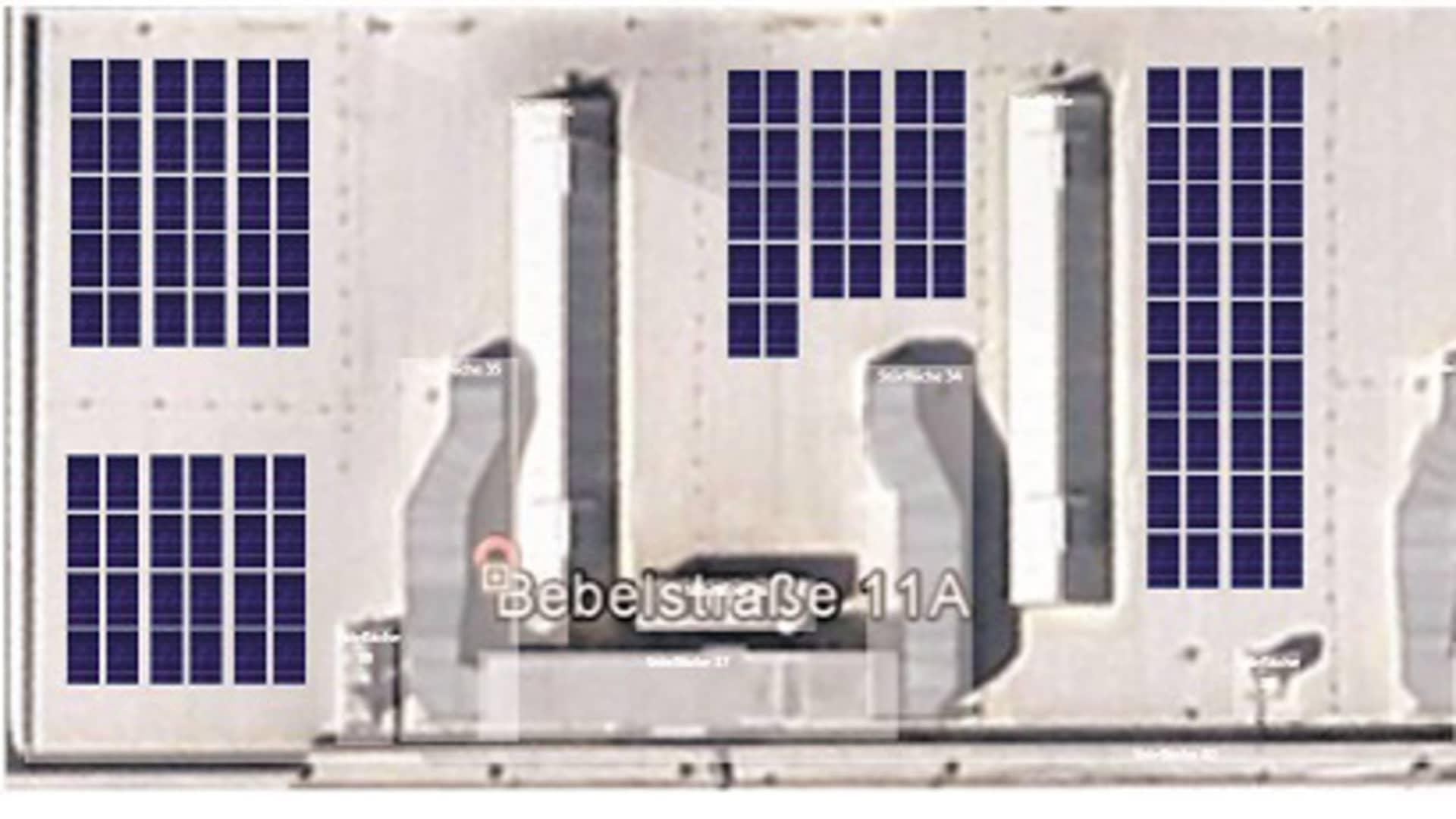 Dachabschnitt PV-Anlage