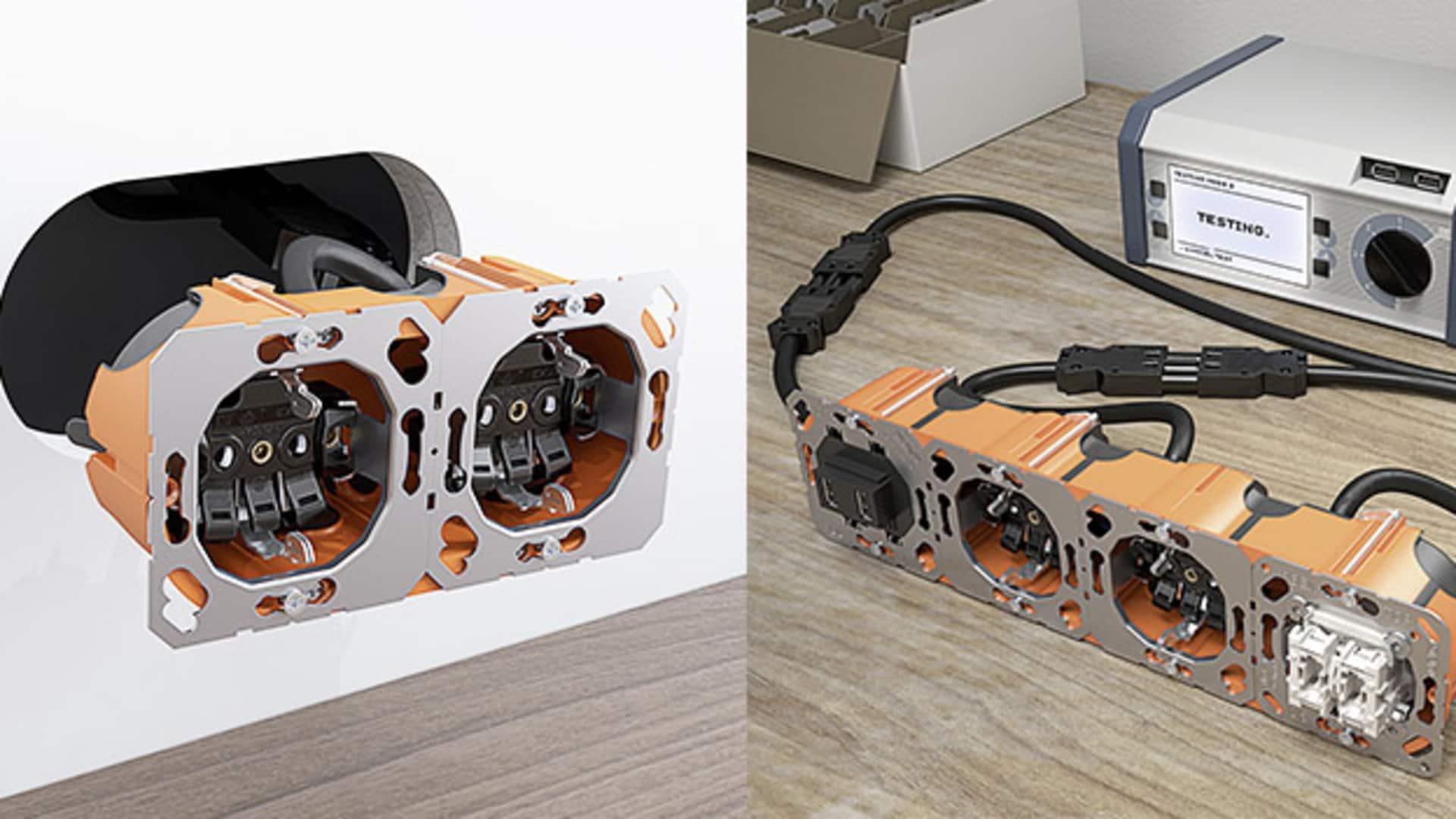 Plug & Go von Jung und Wieland: das neue Installationssystem vereinfacht die Arbeit fürs E-Handwerk