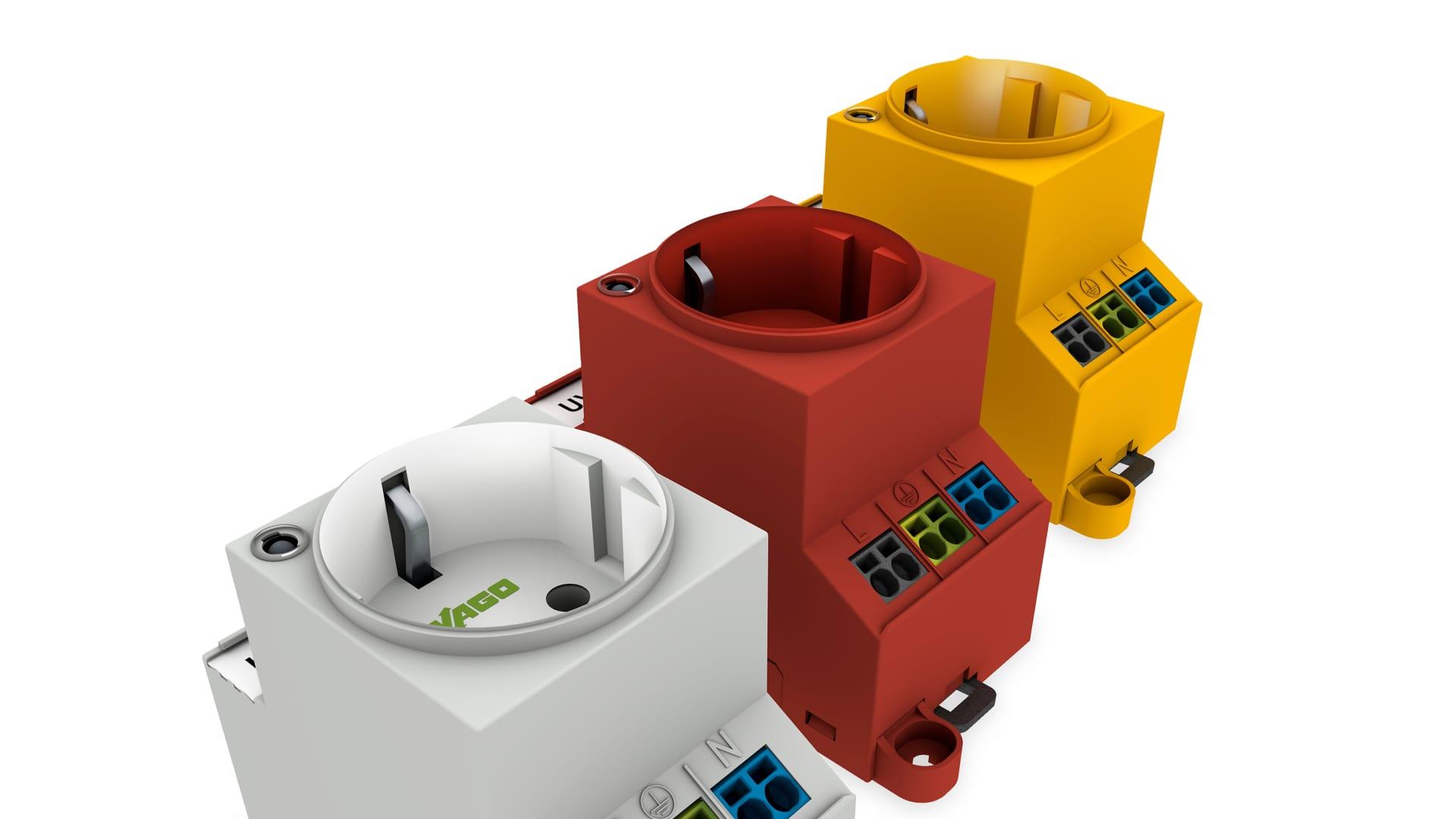 WAGO: Schaltschranksteckdose mit Doppelanschluss