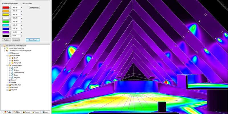 Lichtplanung der Kirche in Emmendingen