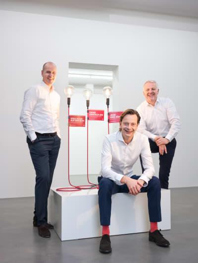 Geschäftsführung von Alexander Bürkle: Frank Schoberer, Andreas Ege und Klemens Isenmann (v.l.)