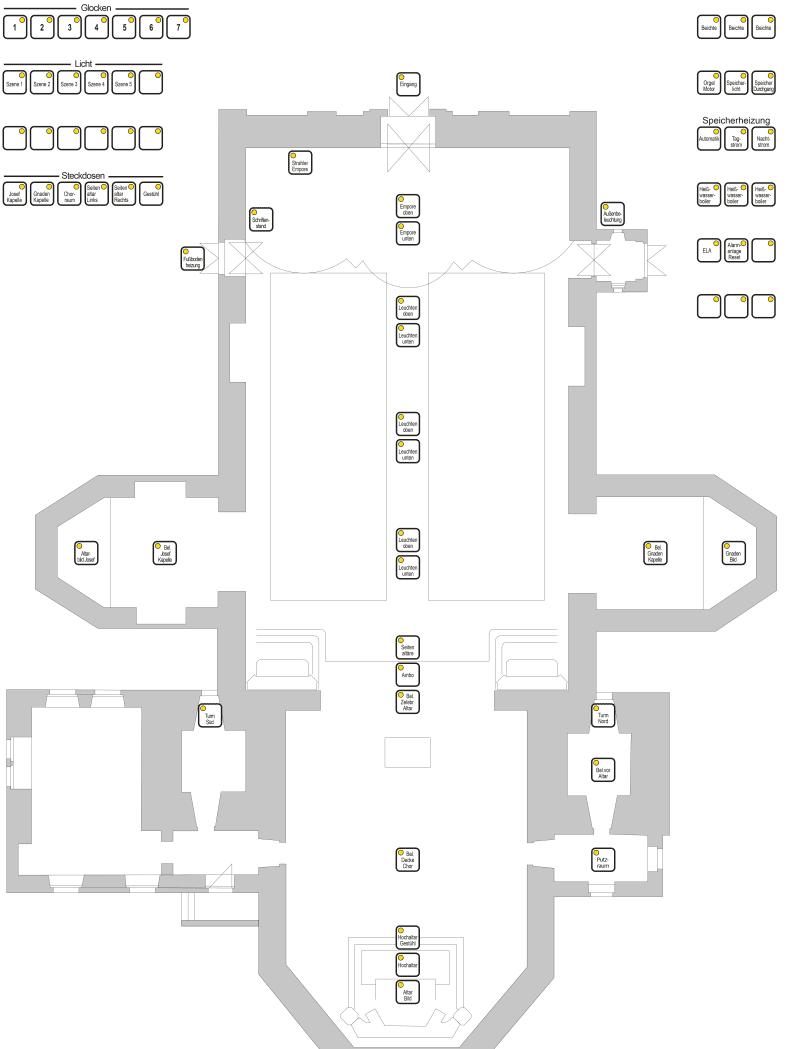 Entwurf der Kirche in St. Märgen