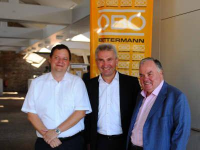 Bei der Eröffnung in Köln (von links): Andreas Bettermann, Prof. Dr. Andreas Pinkwart und Ulrich Bettermann.