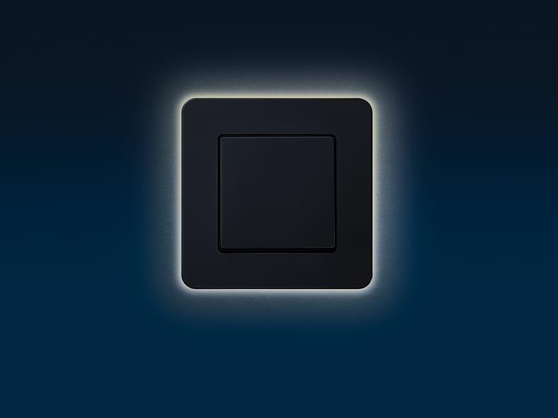 Leuchtender Lichtschalter