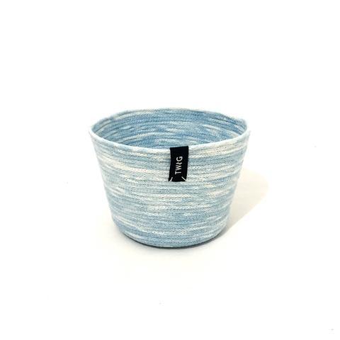 Naturally Dyed Cotton Pot - Cloudy