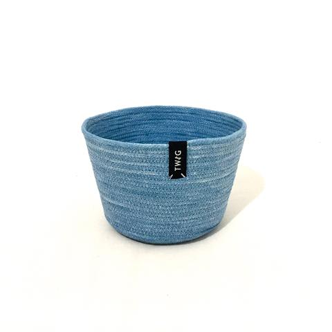 Naturally Dyed Cotton Pot - Smurf