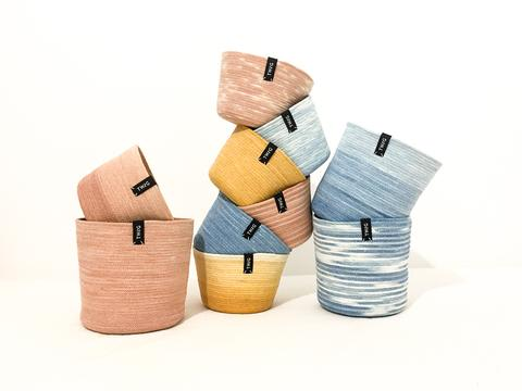 Naturally Dyed Cotton Pot - Dawn