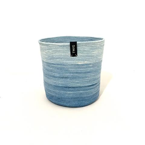 Naturally Dyed Cotton Pot - Cornflower