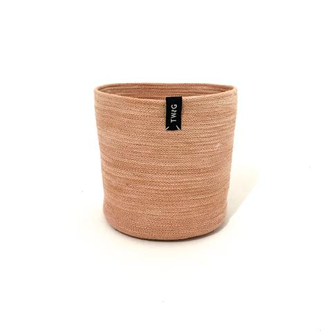 Naturally Dyed Cotton Pot - Earth