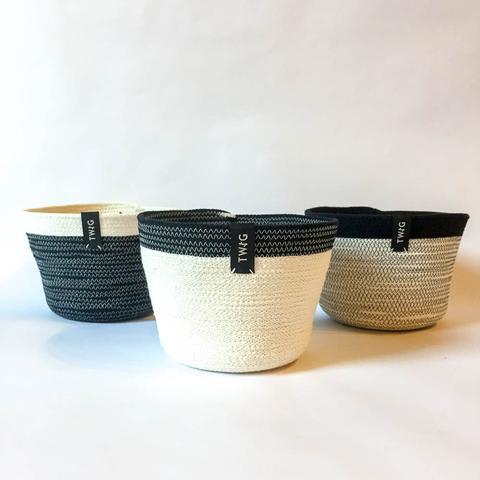 Twig Plants and Pots - Sooty concrete indoor plant pot