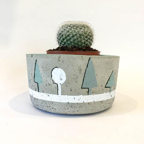Twig Plants and Pots - Trees concrete indoor plant pot