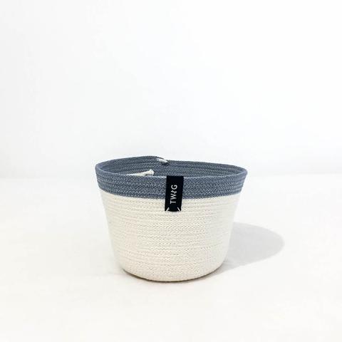 Twig Plants and Pots - Misty concrete indoor plant pot