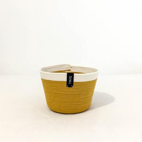 Cotton Pot - Mustard