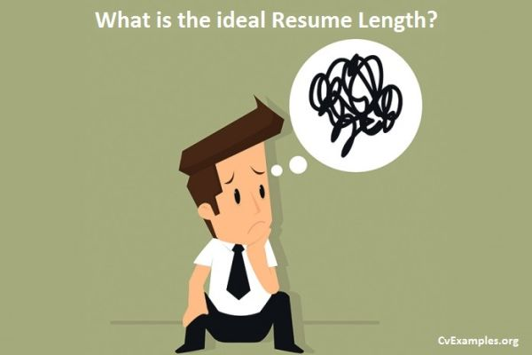 What is the ideal Resume Length?