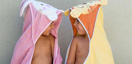זוג מגבות איכותיות ומיוחדות לילדים