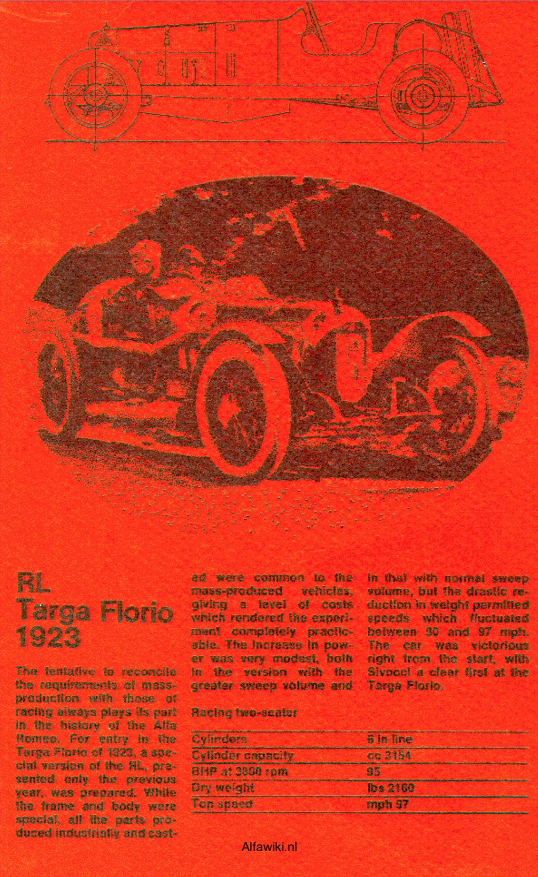 Alfa Romeo RL Targa Florio flyer