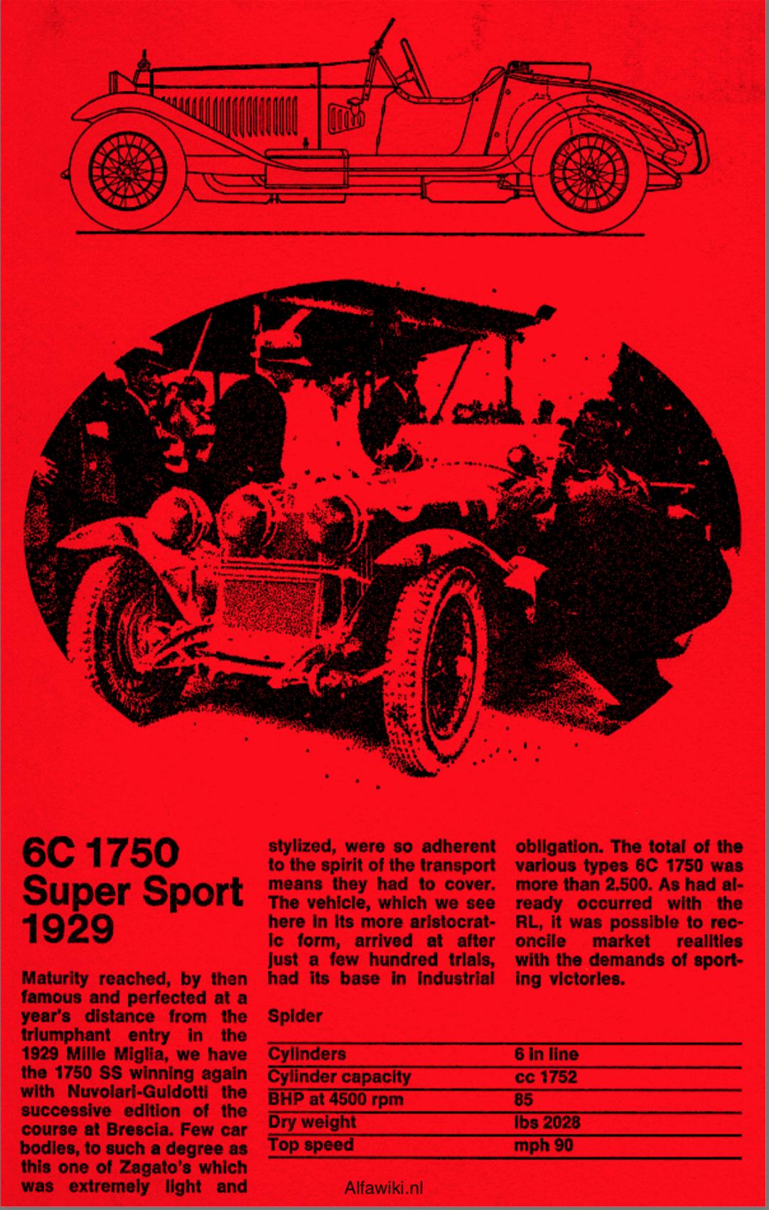 Alfa Romeo 6C flyer