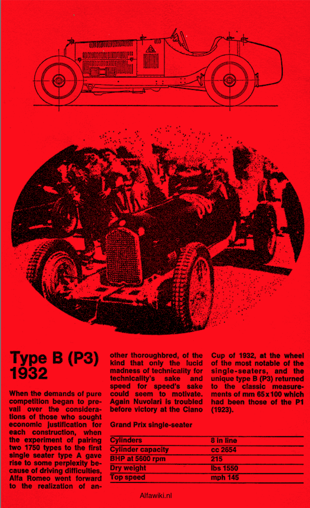 Alfa Romeo P3 flyer