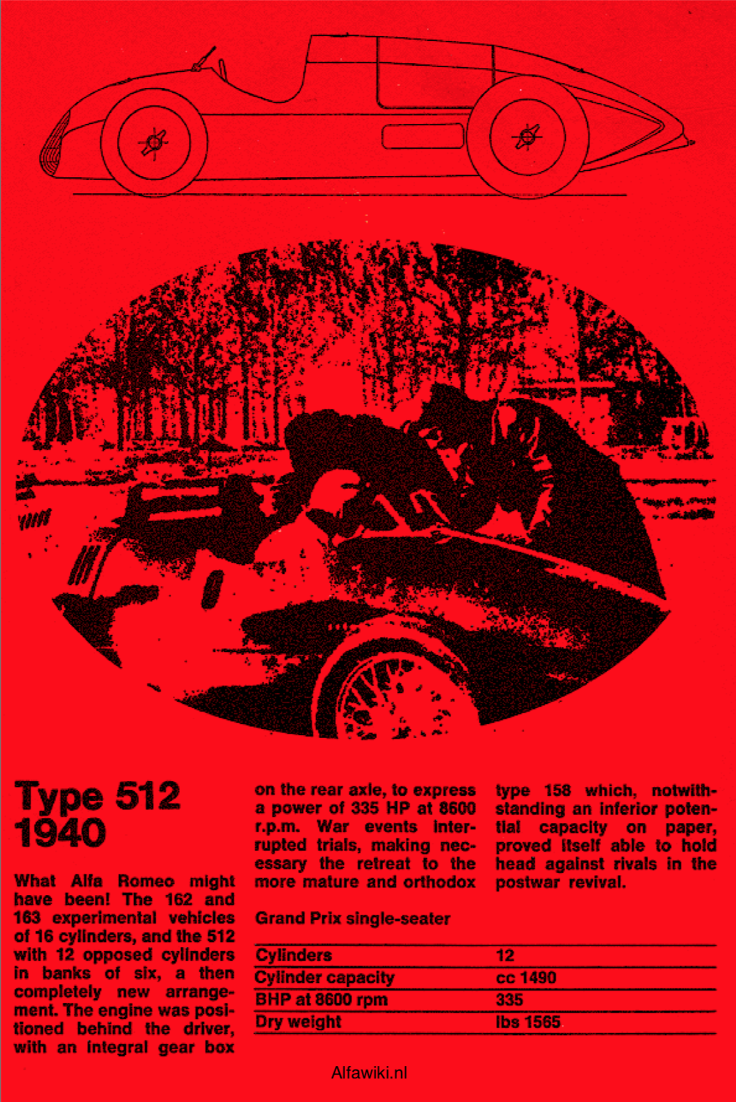 Alfa Romeo 512 flyer