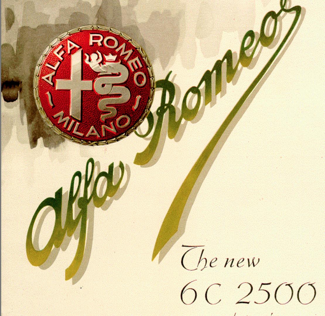 Alfa Romeo 6C 2500 brochure