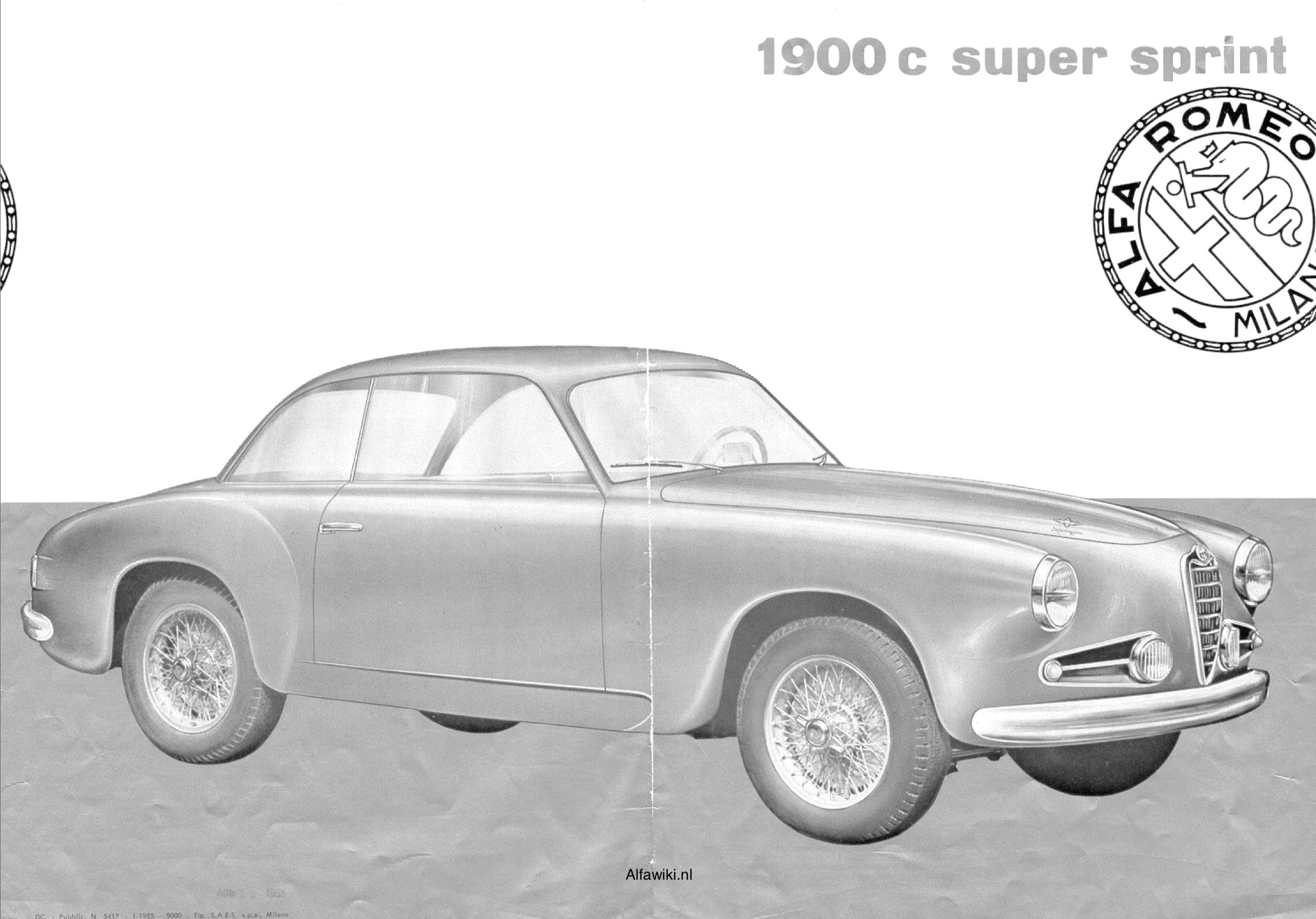 Alfa Romeo 1900 Super Sprint brochure