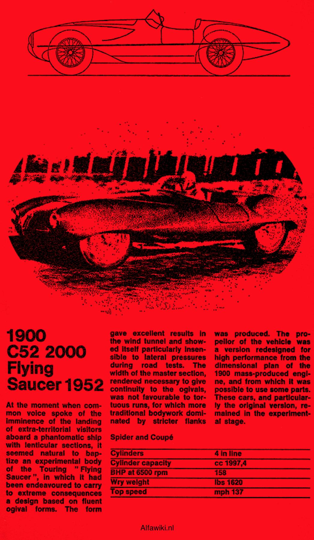 Alfa Romeo 1900 C52 2000 Flying Saucer flyer