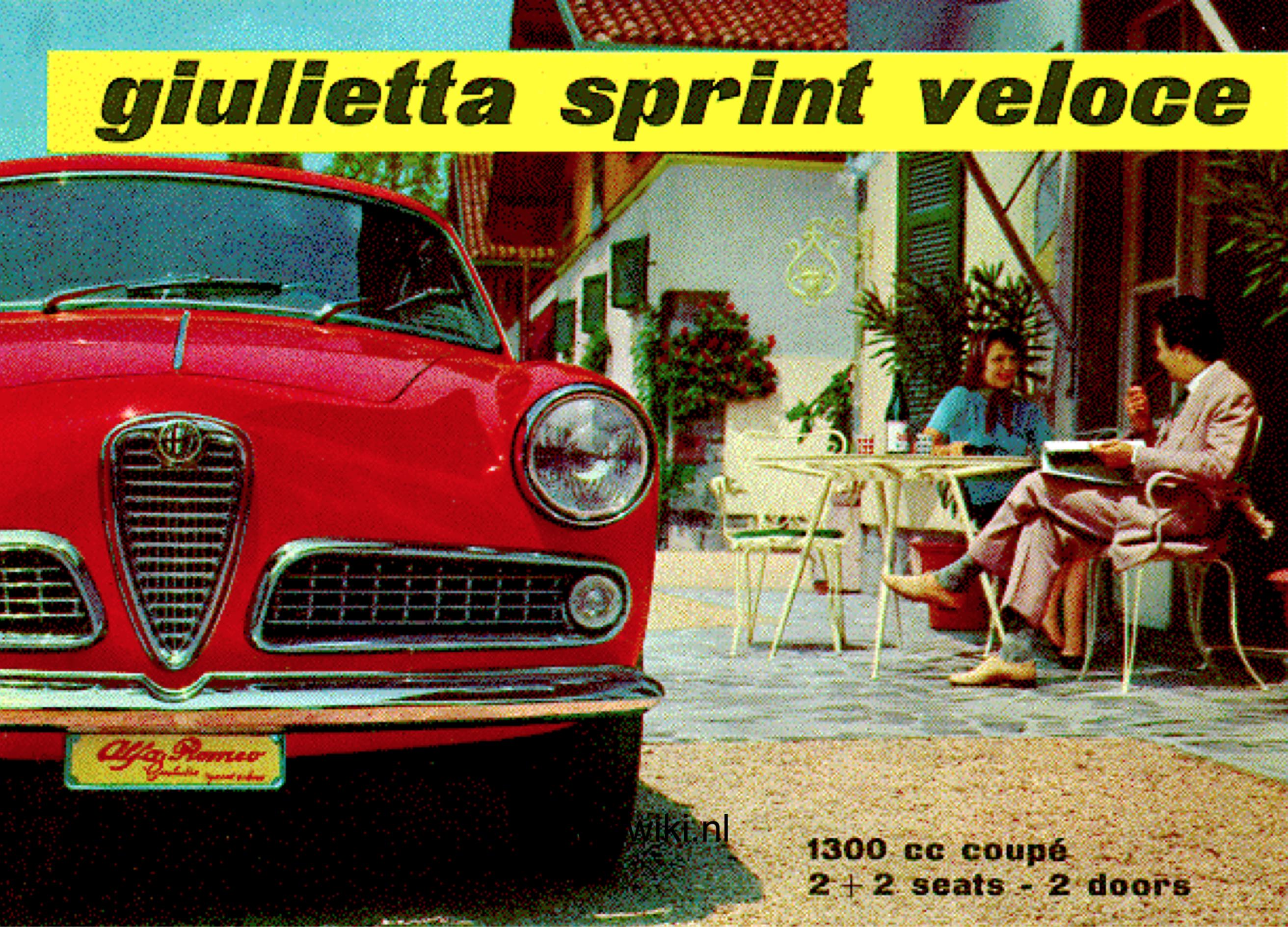 Alfa Romeo Giulietta Sprint Veloce Brochure