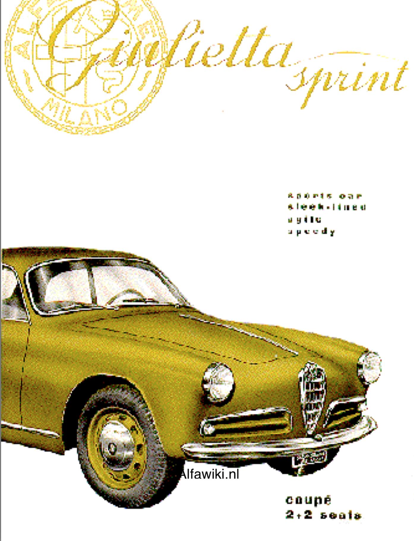 Alfa Romeo Giulietta Sprint brochure