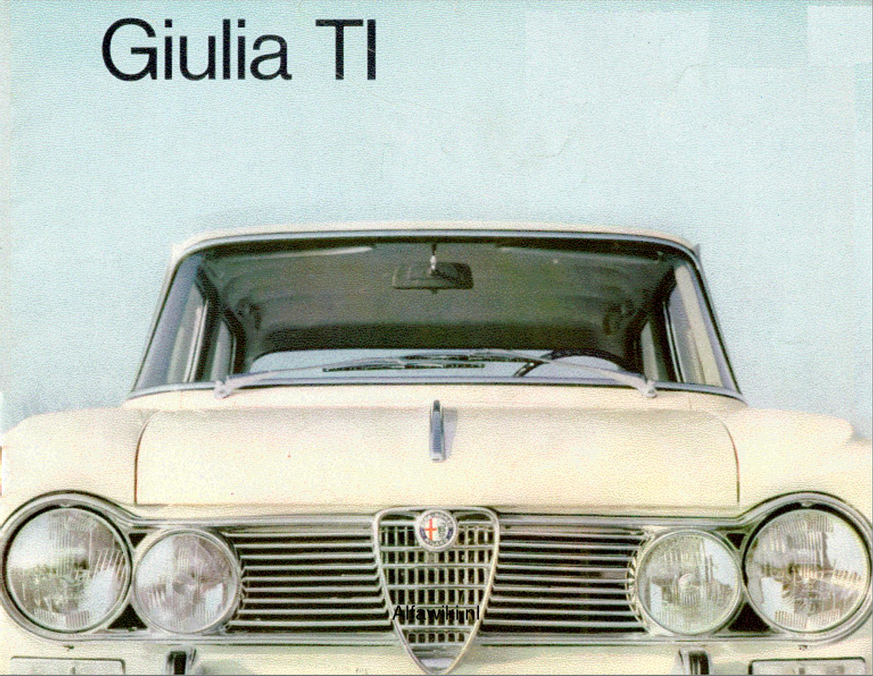 Alfa Romeo Giulia TI brochure
