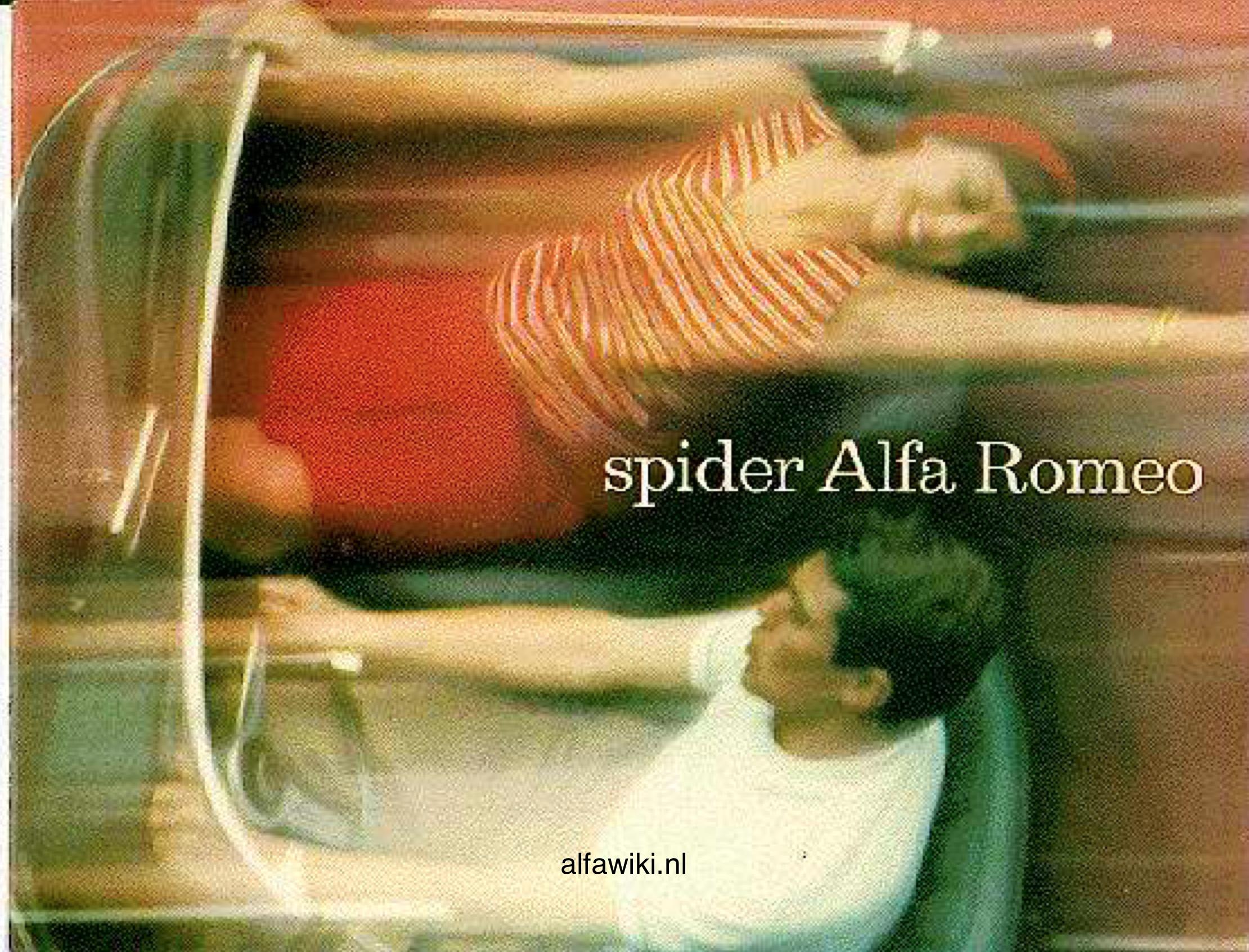 Alfa Romeo 2600 Spider brochure