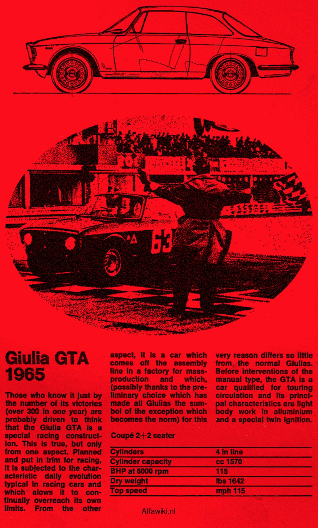 Alfa Romeo Giulia GTA flyer