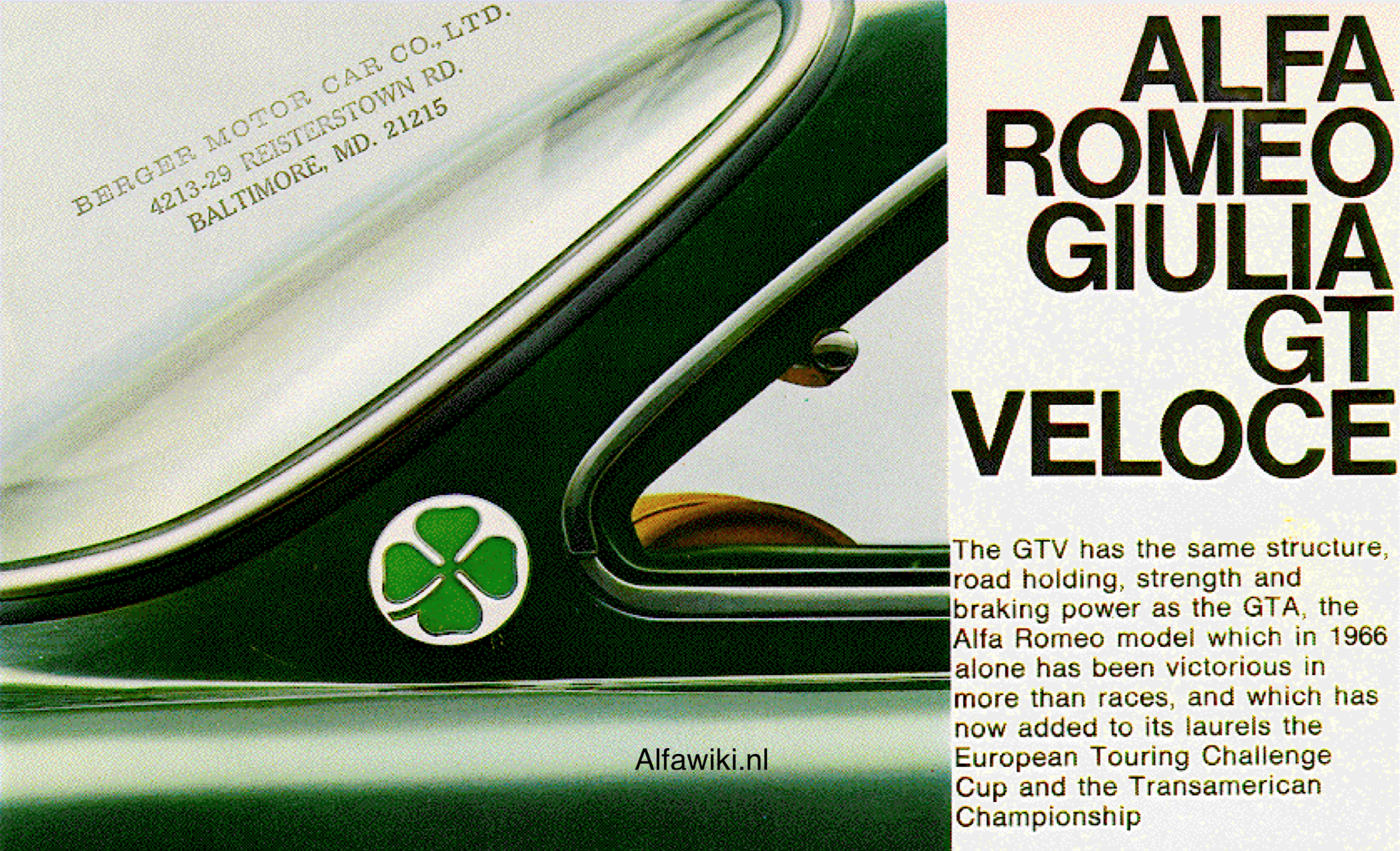 Alfa Romeo Giulia GT Veloce brochure