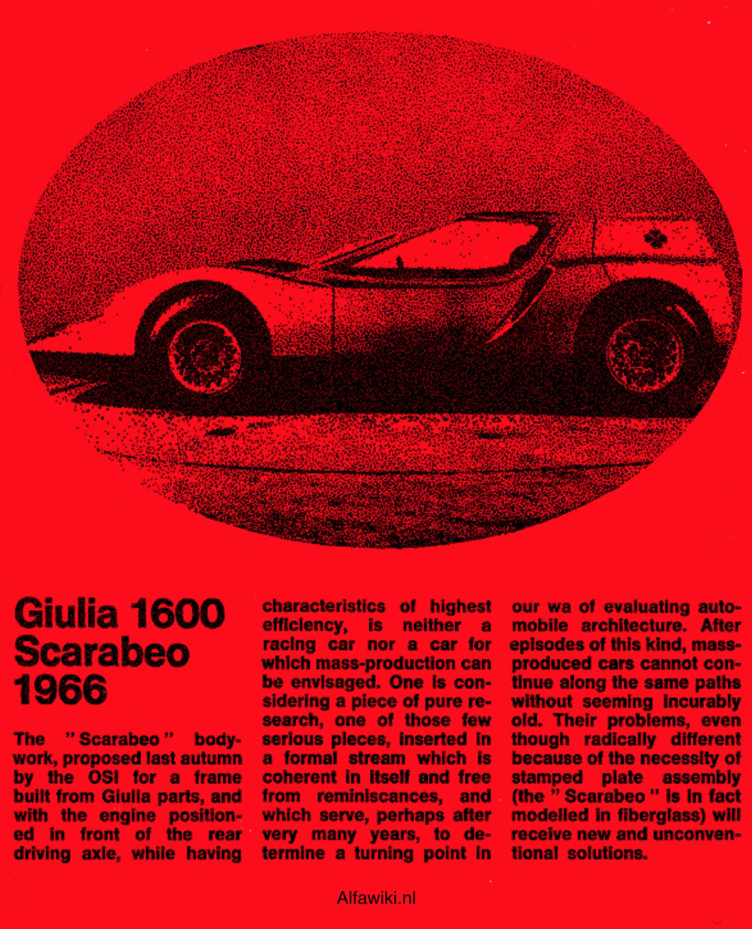 Alfa Romeo Giulia 1600 Scarabeo flyer