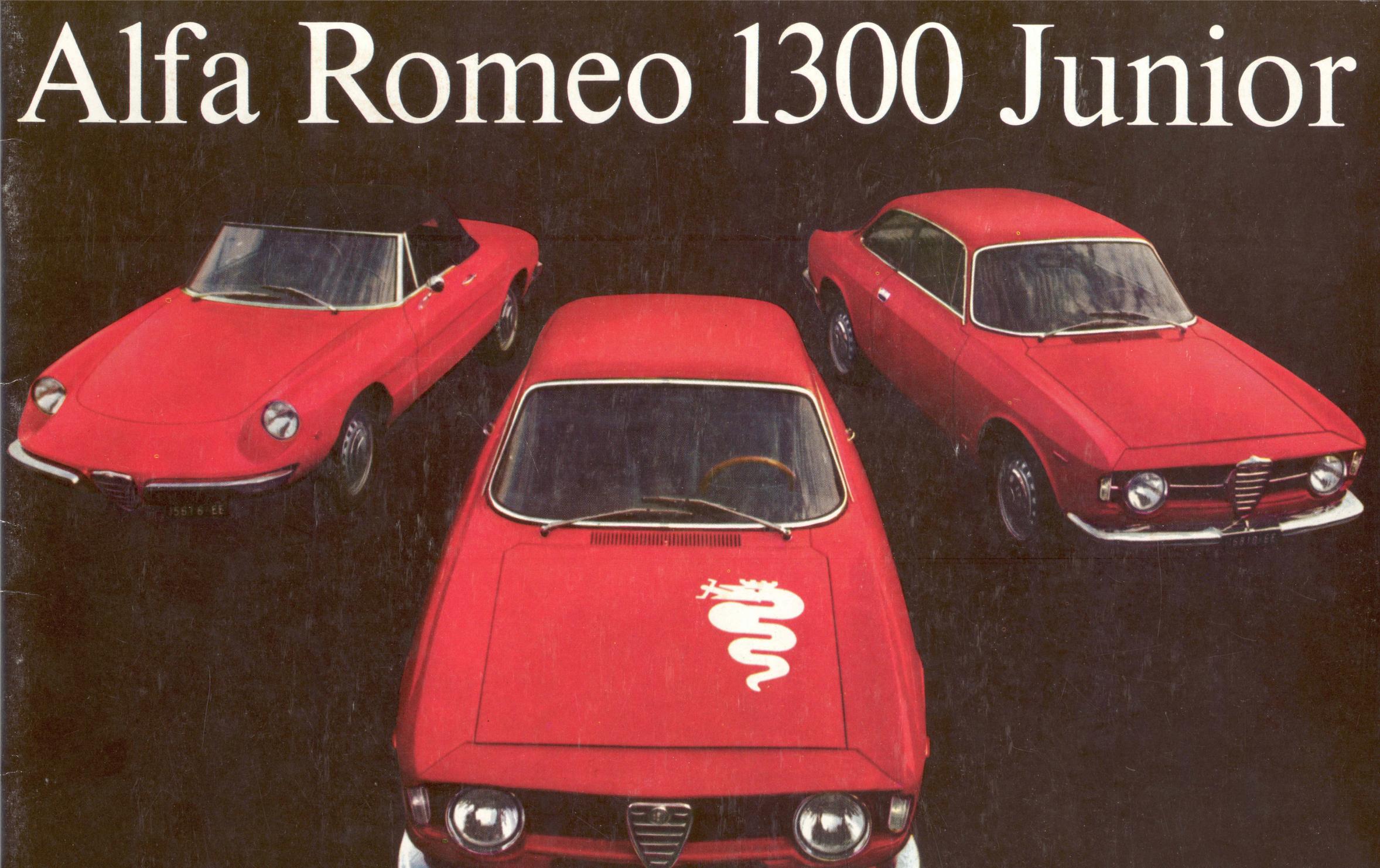 Alfa Romeo 1300 Junior Spider brochure