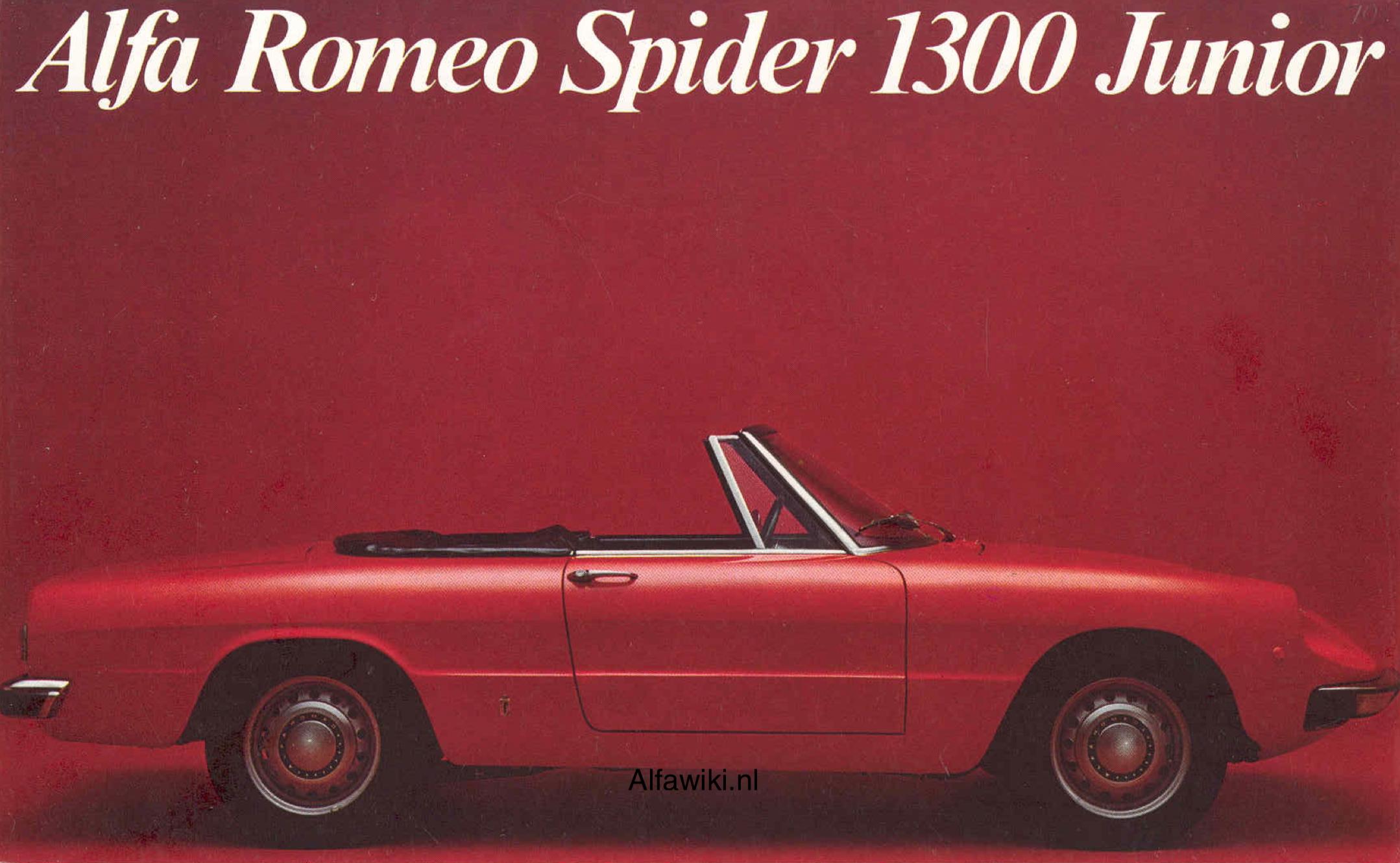 Alfa Romeo Spider Junior brochure