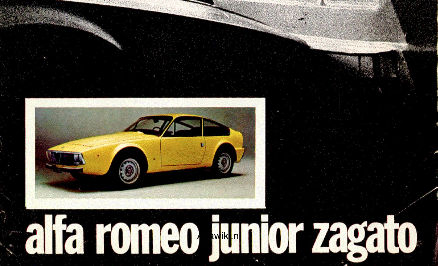 Alfa Romeo Junior Zagato brochure