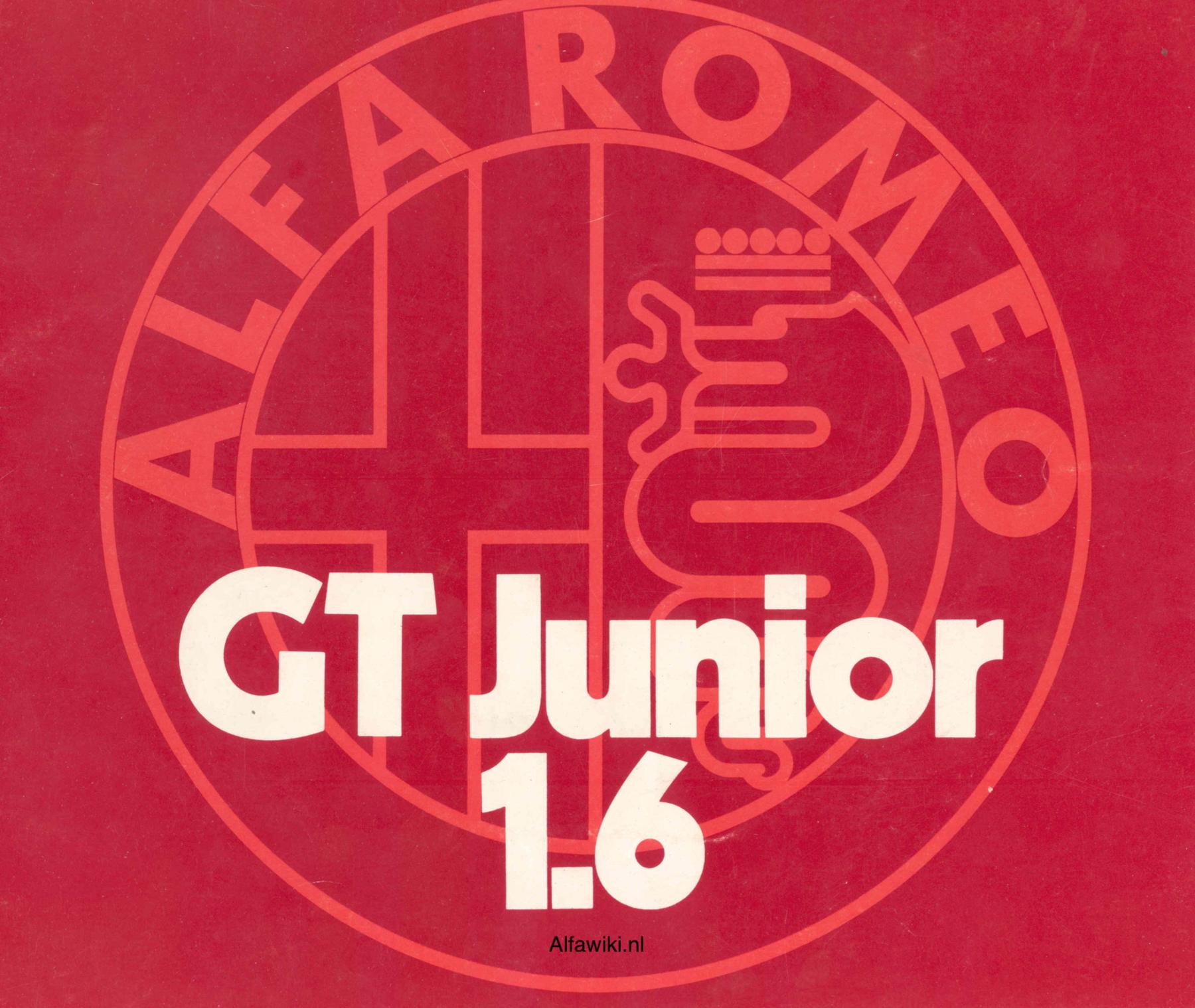 Alfa Romeo Junior 1600 brochure