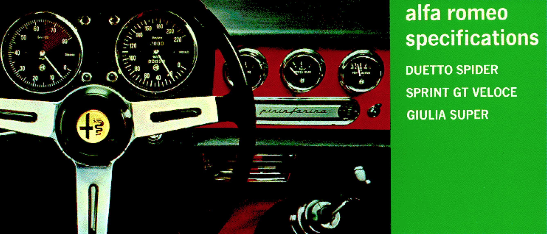 Alfa Romeo Duetto brochure