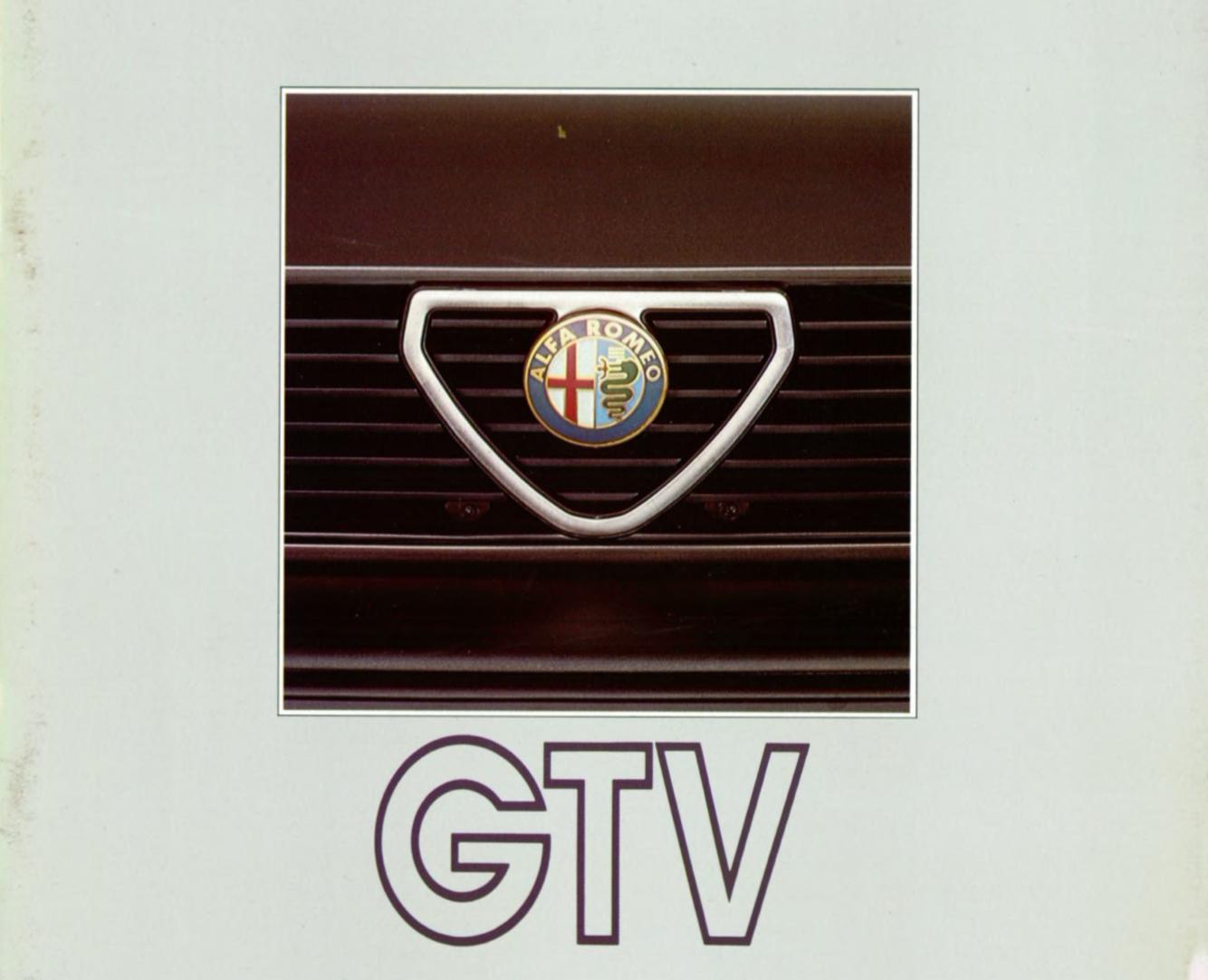 Alfa Romeo GTV brochure
