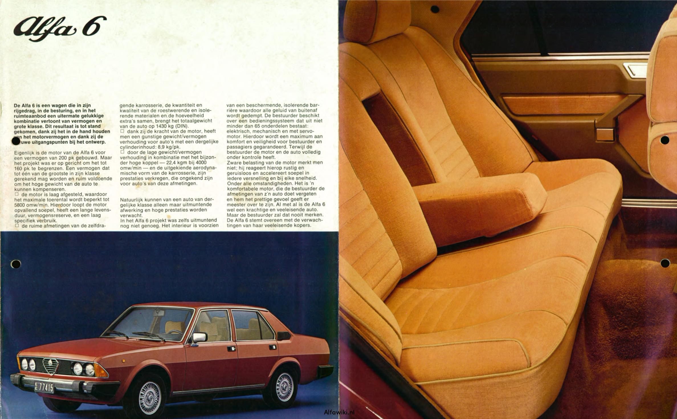 Alfa Romeo 6 brochure