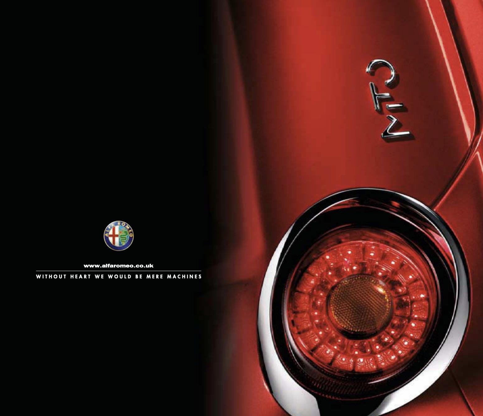 Alfa Romeo Mito brochure