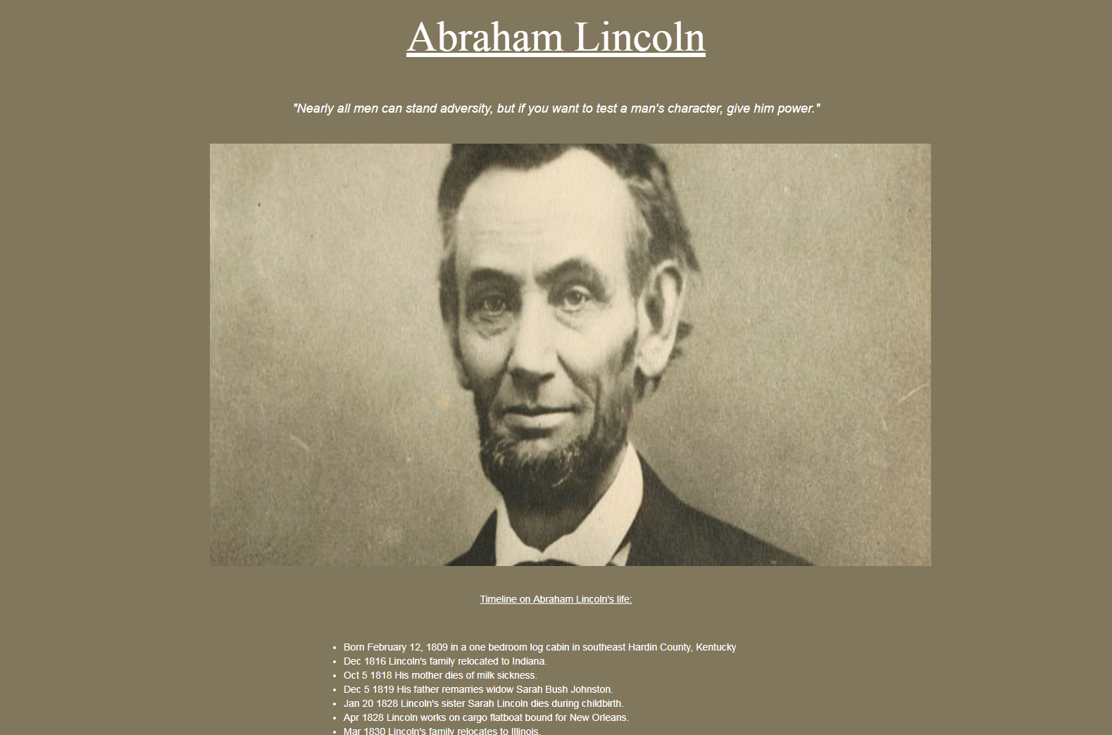 Thumbnail of lincoln-codepen page.