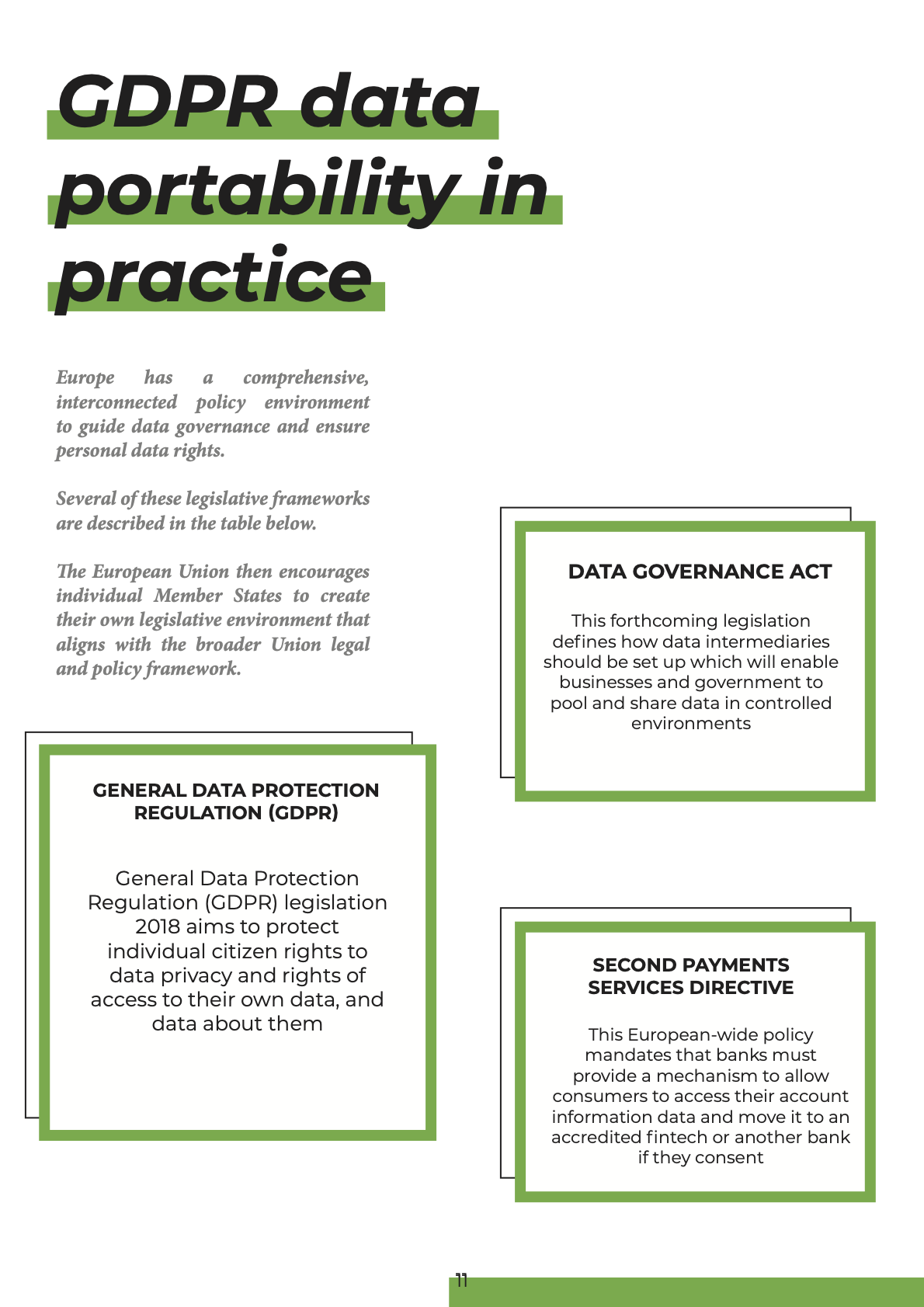 Image of the 'GDPR data portability in practice' part of the GDPR Report