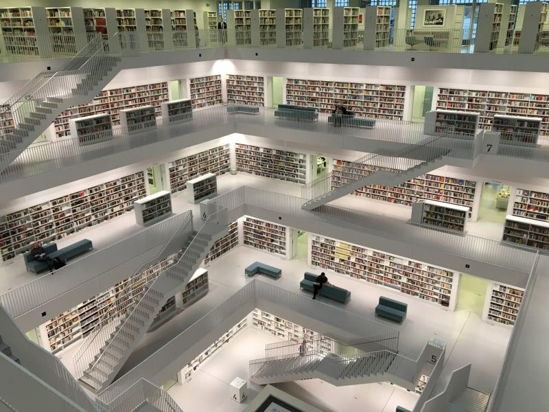 Photo d'une bibliothèque