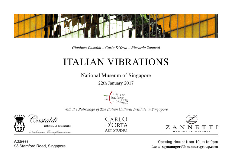 CARLO D'ORTA EXHIBITION IN SINGAPORE