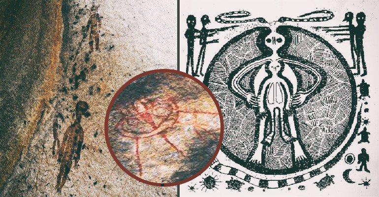 Cryptic Cave Carvings Resembling Aliens and UFOs Found in ...