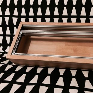 A wooden 84hp 4U eurorack case