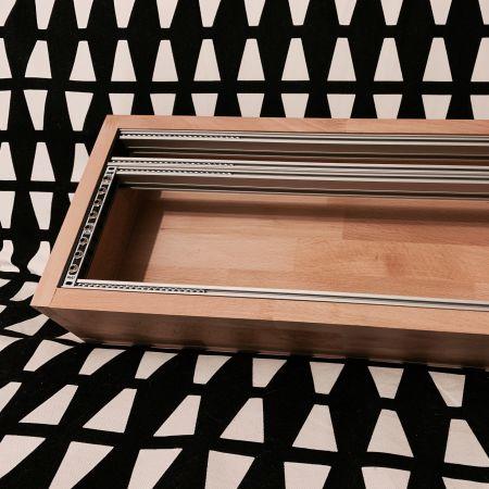 A wooden 84hp 4U eurorack case