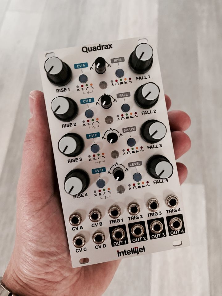 The Quadrax module in my hand